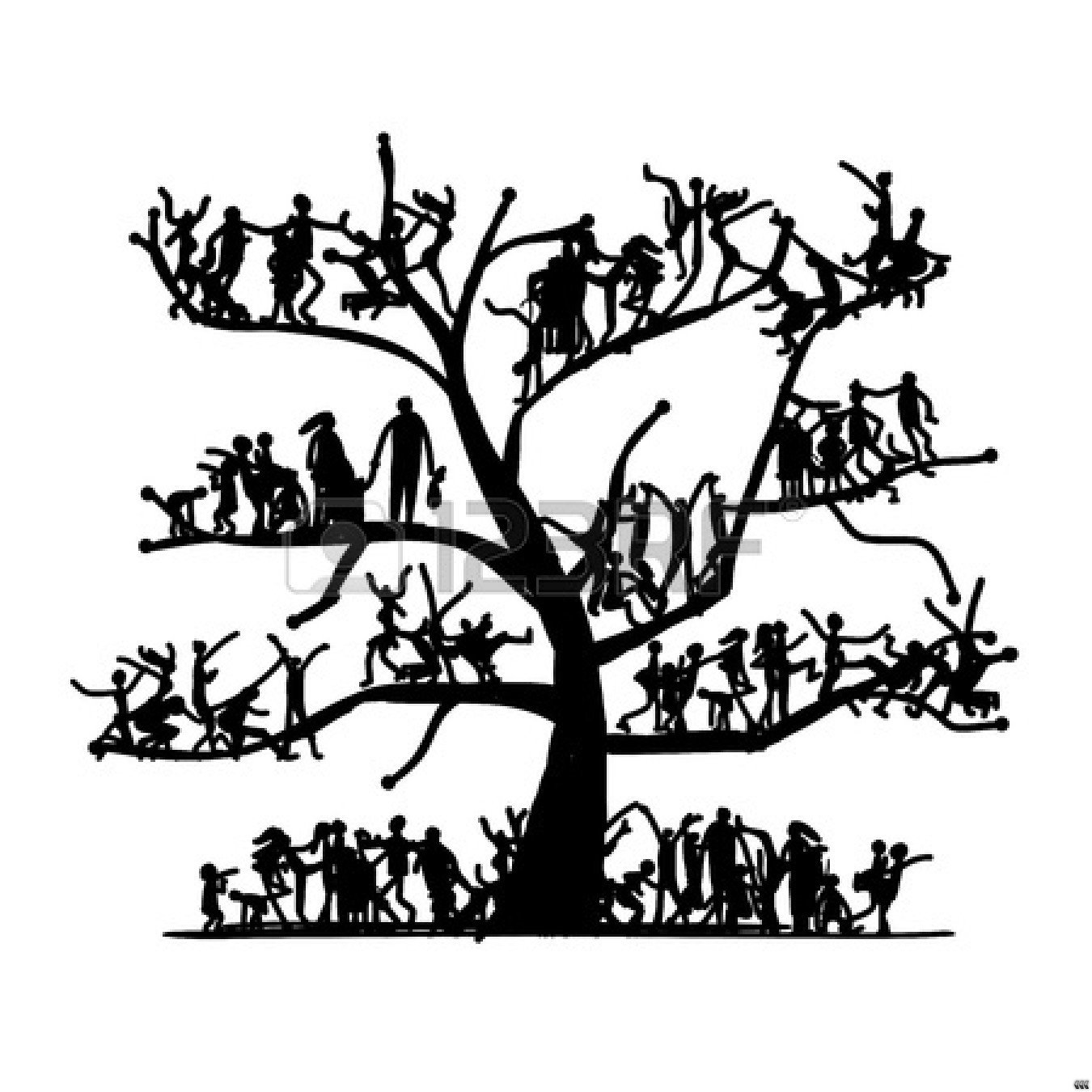 1350x1350 Family Tree Clip Art Black And White Clipart Panda