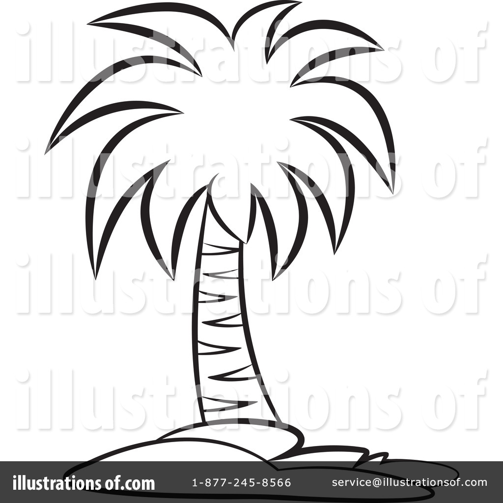 1024x1024 Palm Tree Clipart Line Drawing