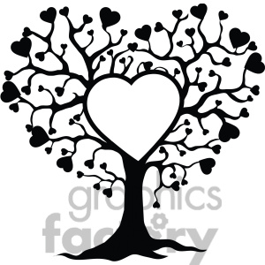 300x300 Heart Family Tree Clipart