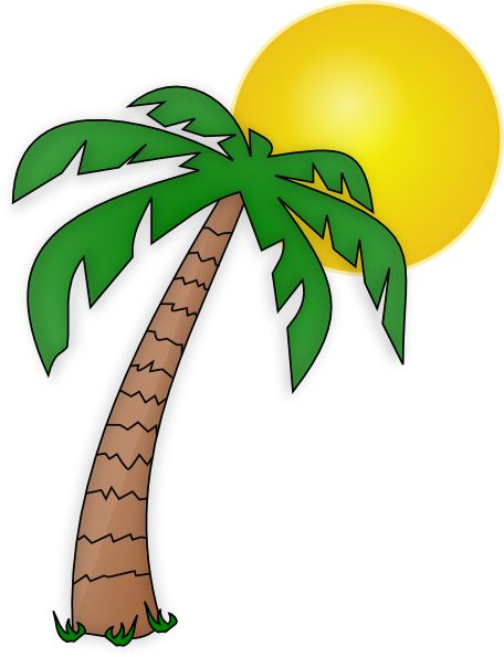 456x595 Clip Art Palm Trees