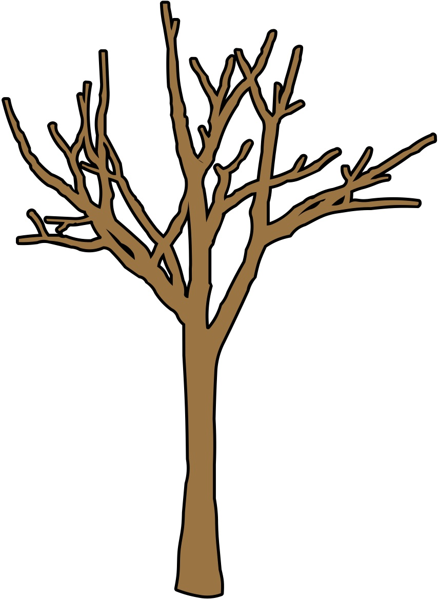 854x1168 Dead Tree clipart brown tree