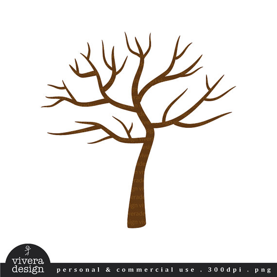 570x570 Digital Clip Art Tree With No Leaves Winter Tree By Viveradesign