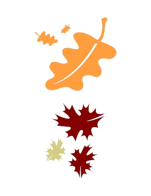 309x401 Falling Leaves Clipart