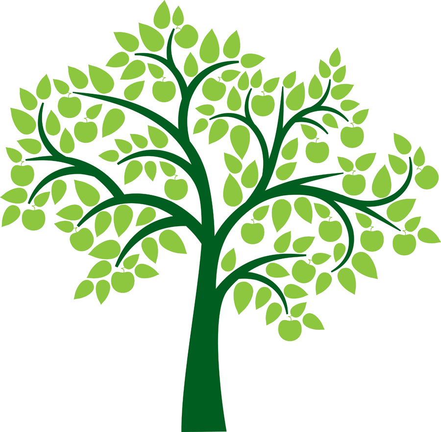900x880 Leaves clipart family tree