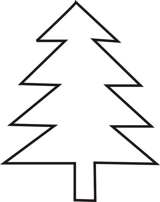 550x695 Christmas Tree Clip Art Outline Clipart