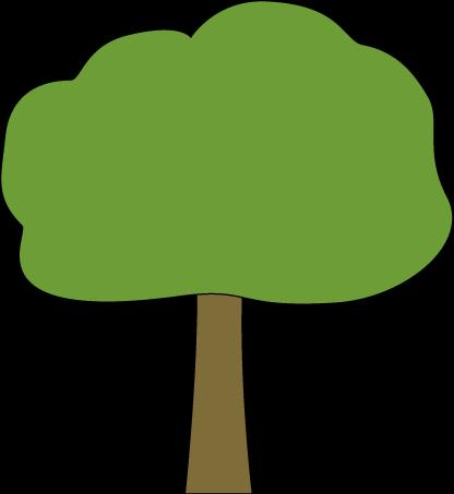416x453 Oak Tree With Black Outline Clip Art