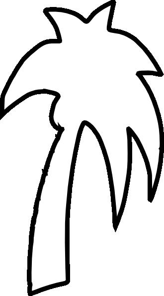 330x594 Palm Tree Outline Clip Art