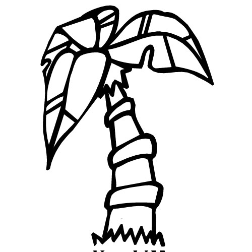 500x500 Palm Tree Outline Clipart