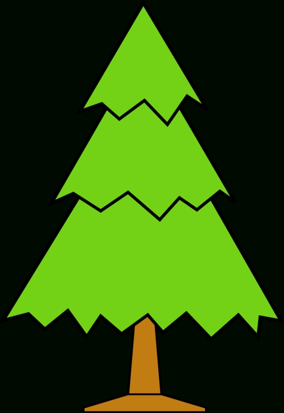 570x829 Top 10 Clipart Christmas Tree Outline