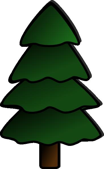 366x592 Evergreen Tree Clipart