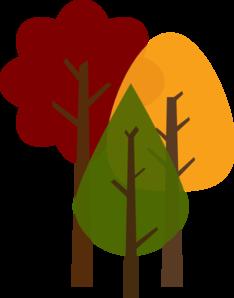 234x298 Fall Trees Clip Art