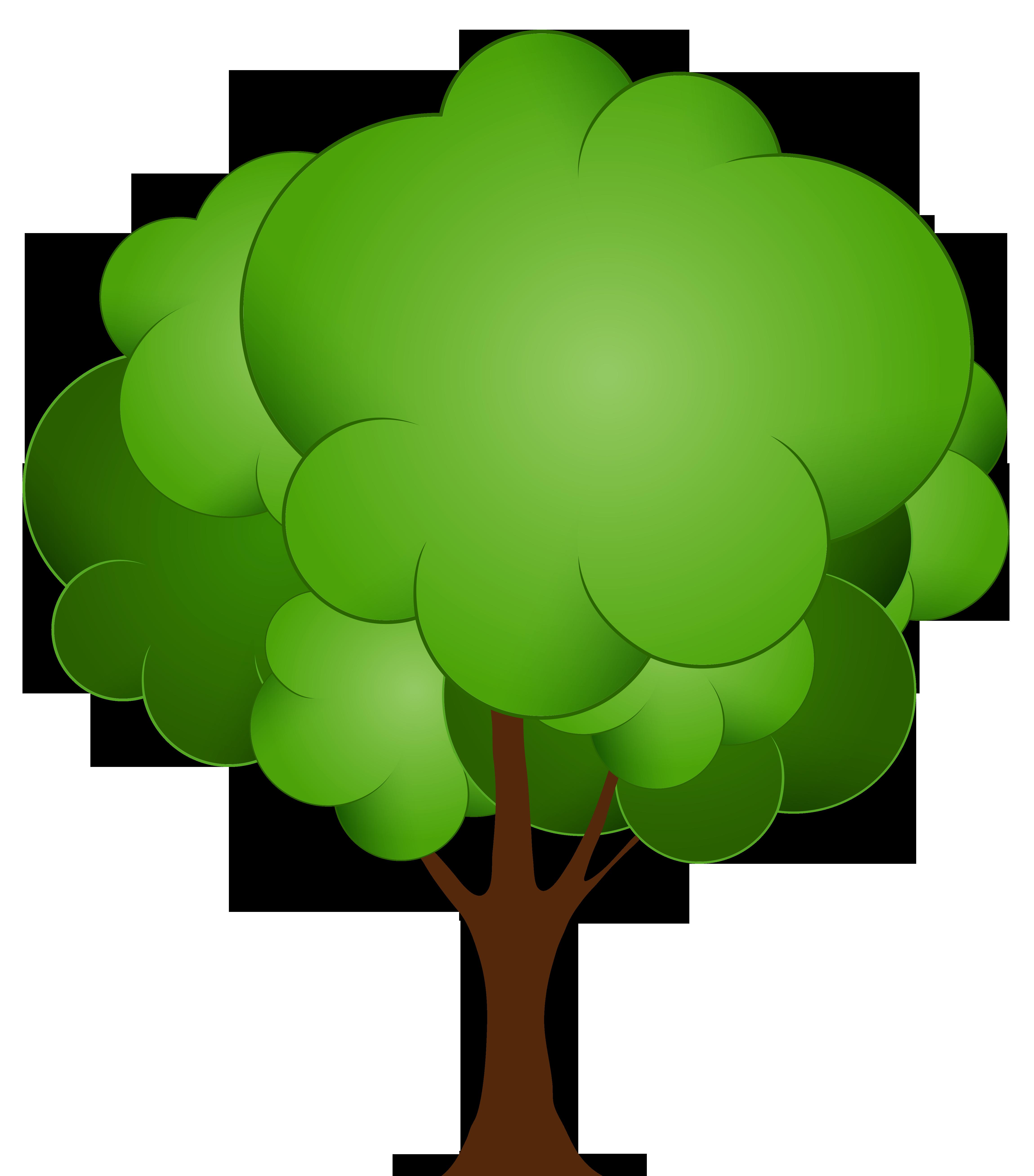 4599x5232 Green Tree Png Clip Art