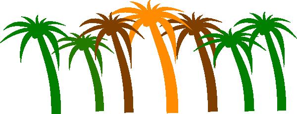 600x232 Palm Tree Clip Art