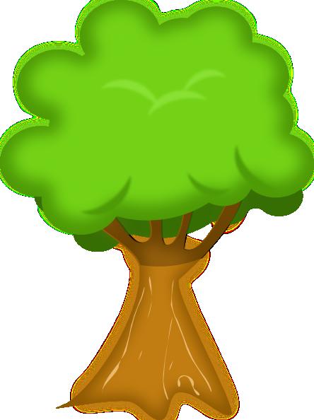 444x594 Soft Trees Clip Art