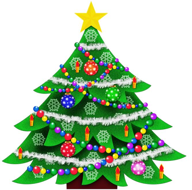 667x660 Merry Christmas Clip Art 2017 Free Tree Clipart
