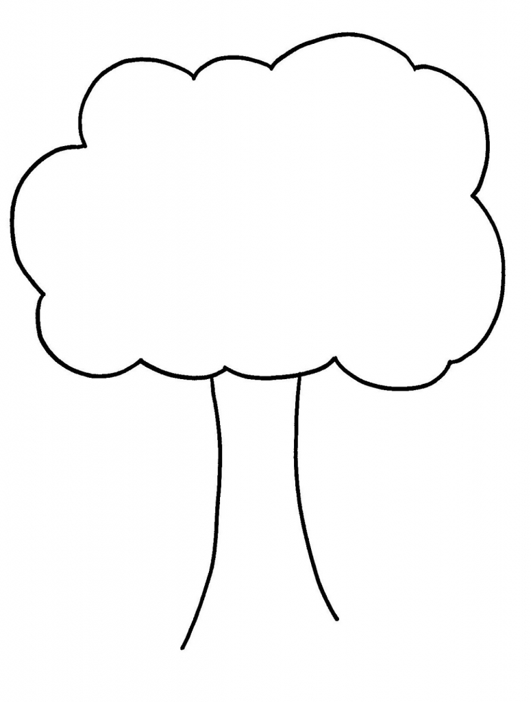 775x1024 Tree Outline Drawing Best Photos Of Simple Tree Outline Tree