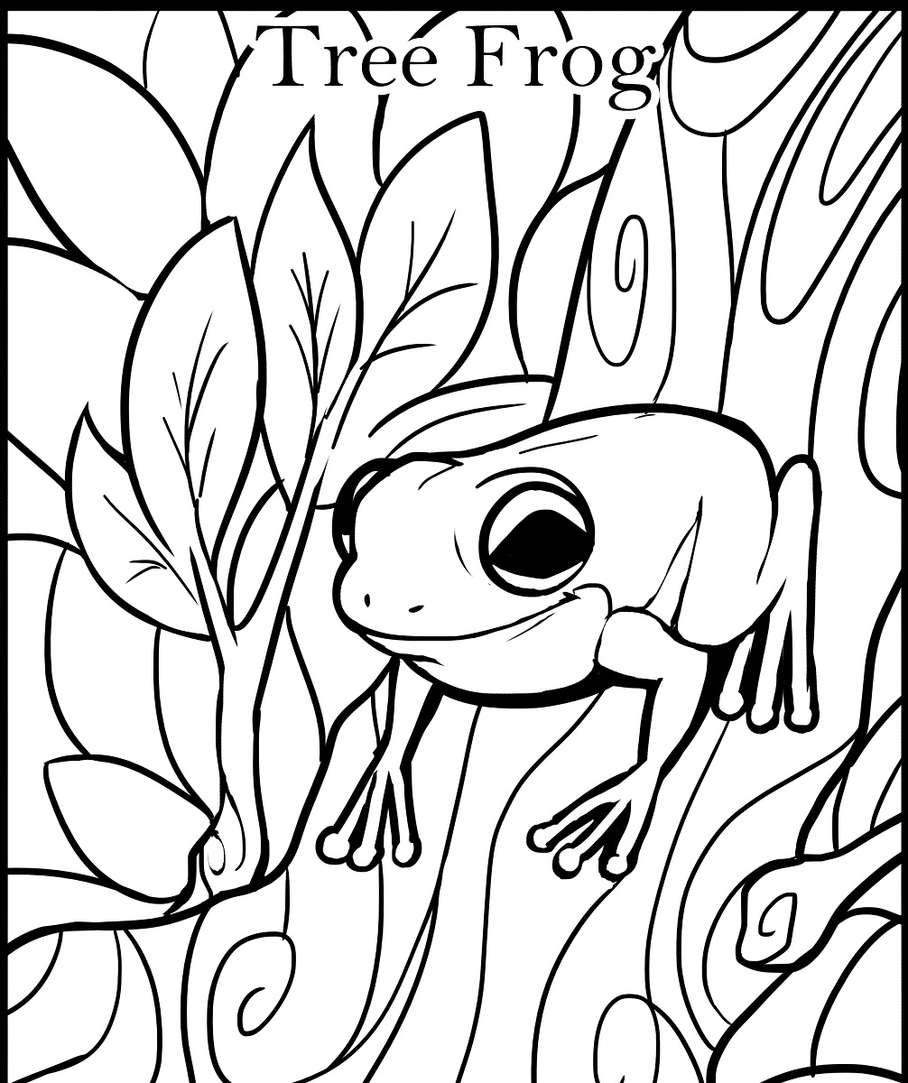 Tree Frog Coloring Pages | Free download best Tree Frog Coloring ...