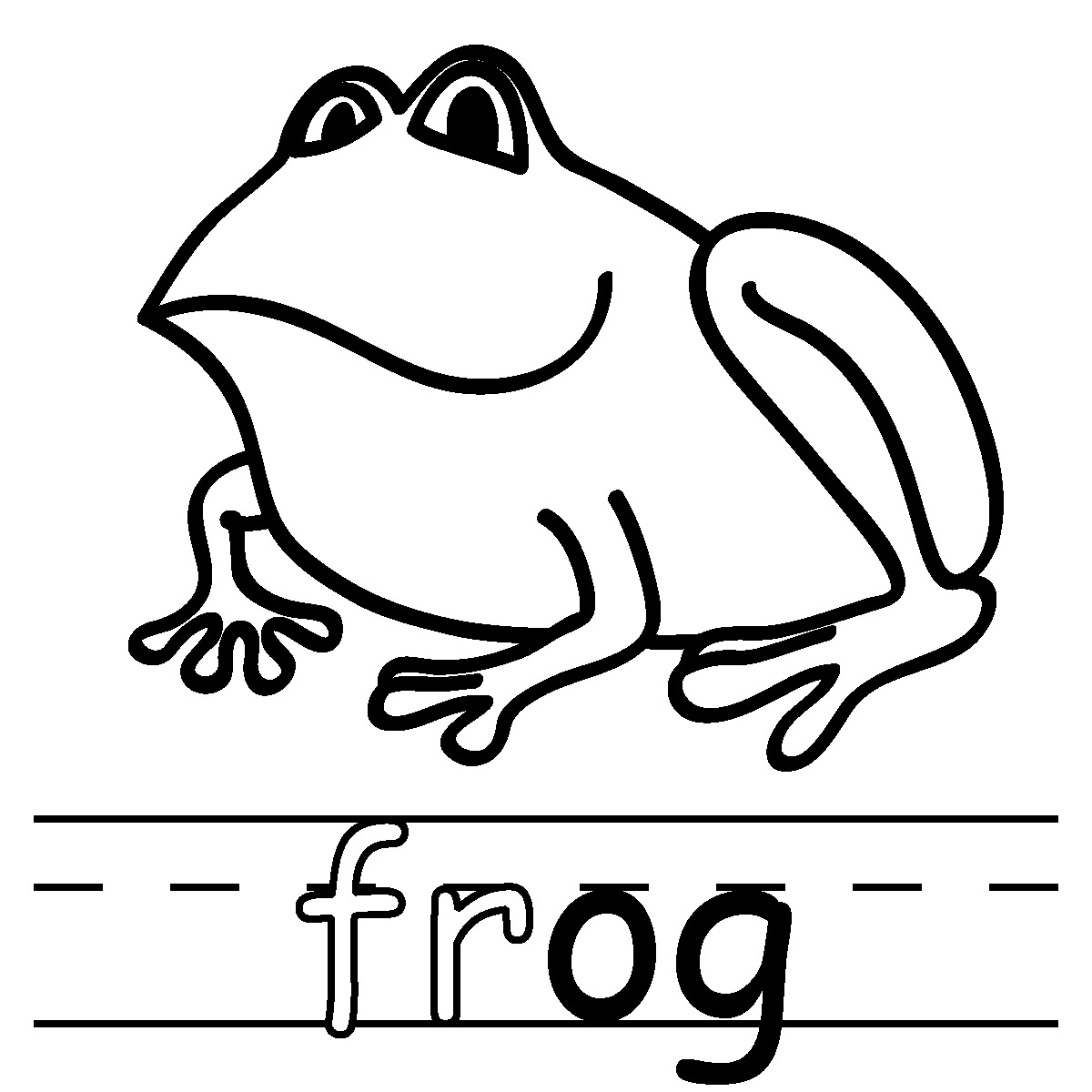 1200x1200 Amphibian Clipart Coloring Page