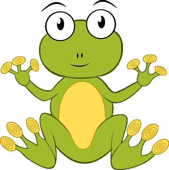 555x561 Free Cartoon Frog Clip Art
