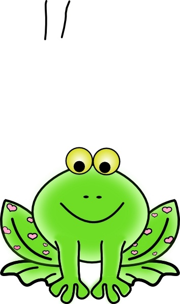 354x598 Green Valentine Frog With Pink Hearts Clip Art Free Vector In Open