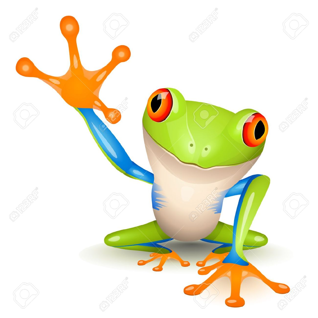 1300x1300 Tree Frog Clipart Coqui