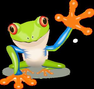 300x285 Waving Frog Clip Art