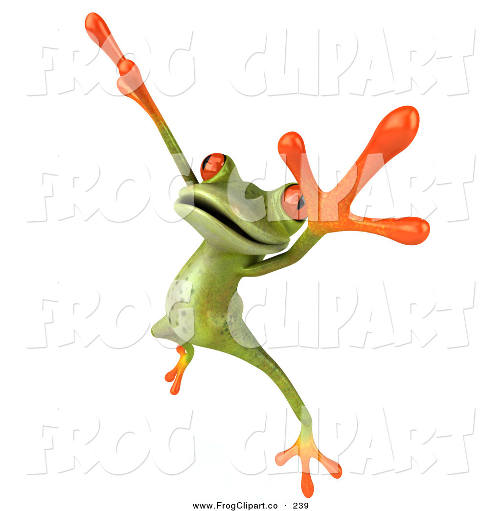 1024x1044 Clip Art Of A Cute Green Tree Frog Dancing On White By Julos