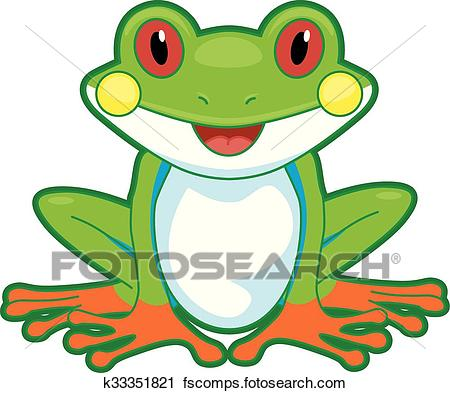 450x393 Clipart Of Tree Frog Front K33351821