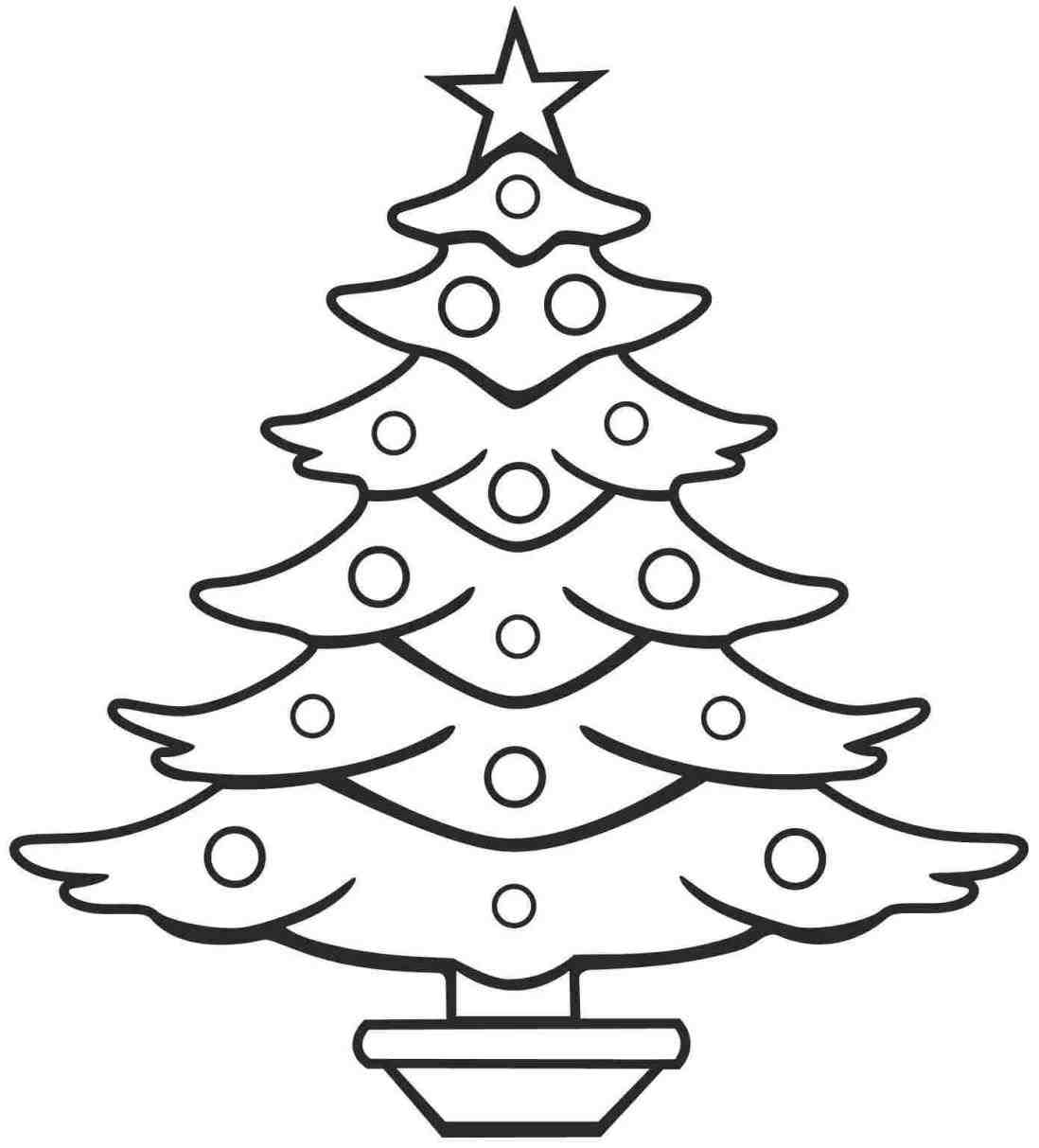 1098x1213 tree christmas trees drawings for kids line drawing free download