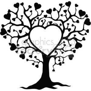 300x300 Royalty Free Tree Of Life And Love 392562 Vector Clip Art Image