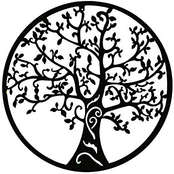 350x350 World Best Rustic Tree Of Life Metal Wall Hanging