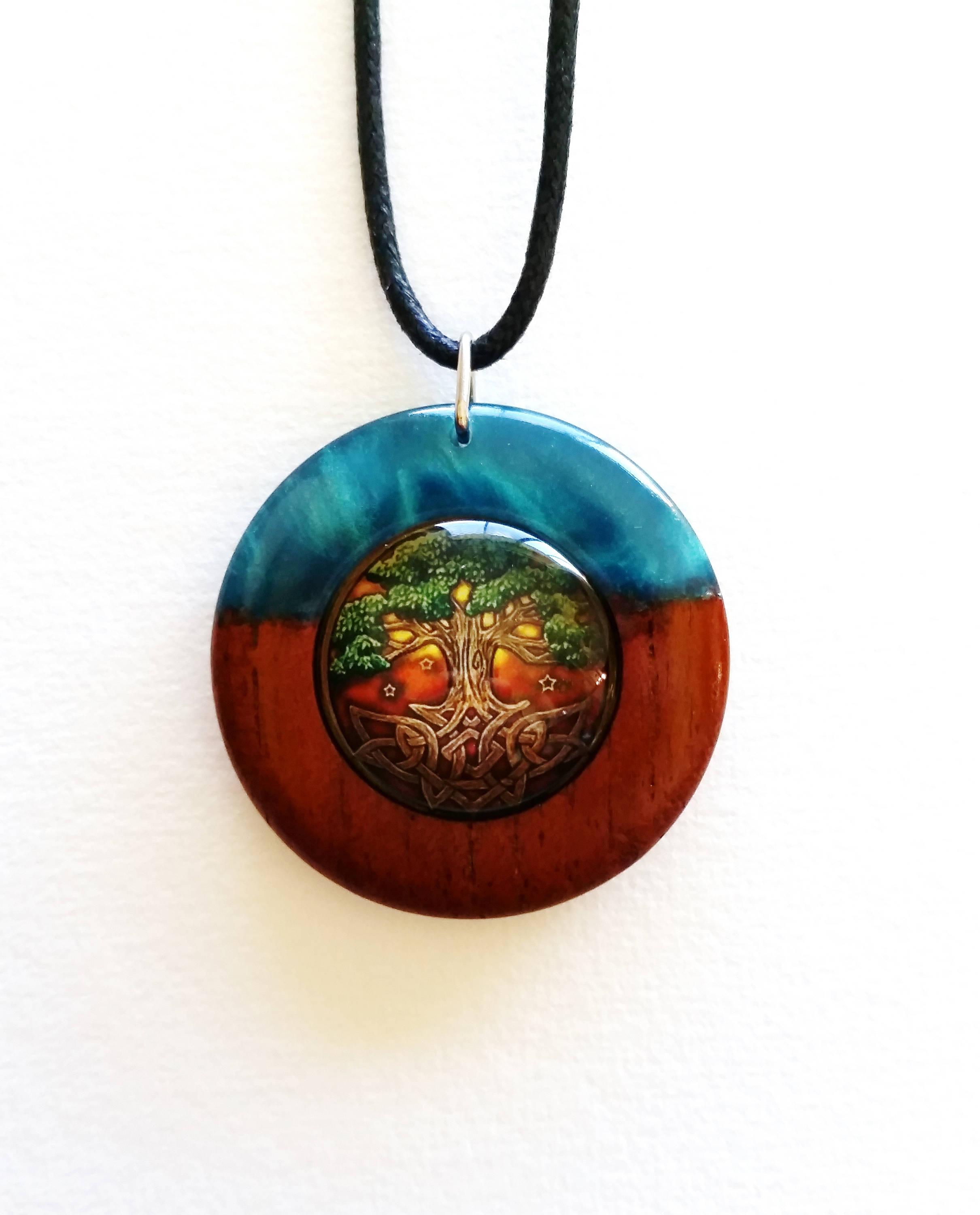 2421x3000 As Above So Below Tree Of Life Pendant In Red Cedar And Pearl