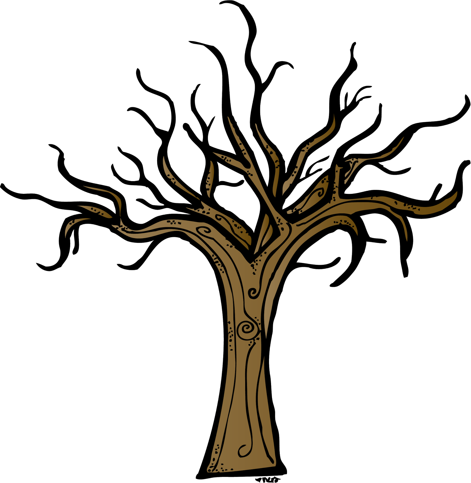 1562x1600 Dead Tree Clipart Tree Outline