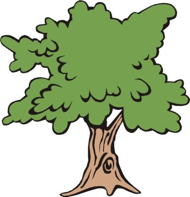 386x400 Tree Clip Art Oak Tree Clipart Black And White Image