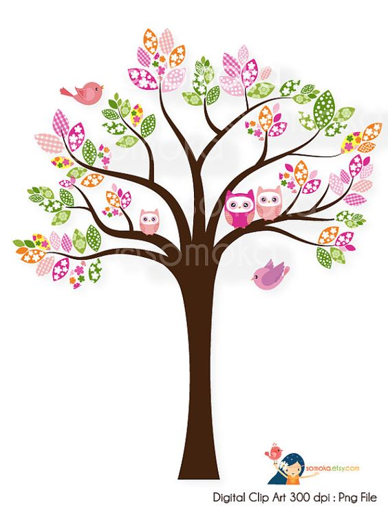 564x752 Cute Owl On Tree Clipart