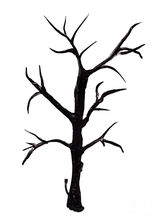 656x900 Bare Tree Painting Isolated Painting By Simon Bratt Photography Lrps