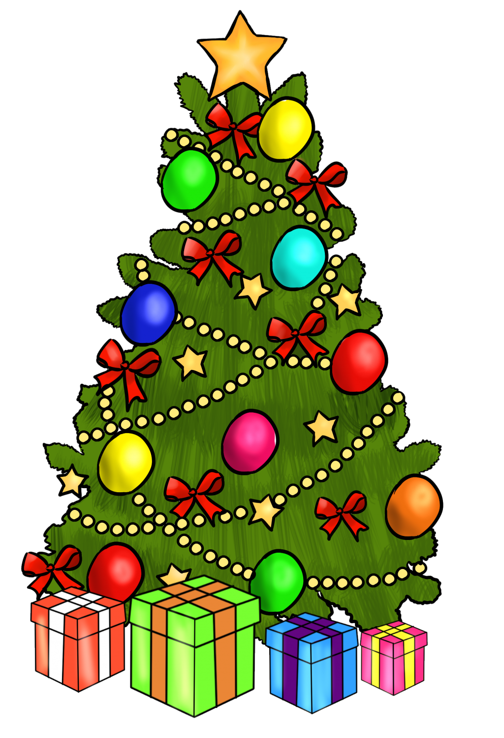 1024x1498 Christmas ~ Cartoon Christmas Tree Images Free Download Clip Art