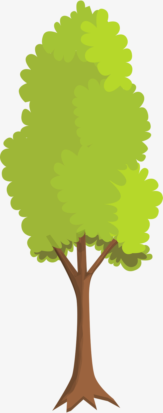 650x1646 Small Fresh Green Big Tree, Little Fresh Tree, Trunk, Simple Tree