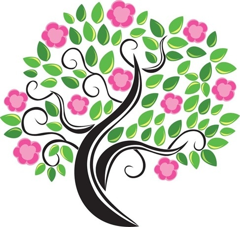 487x461 Flower Tree Vector Free Vector In Adobe Illustrator Ai ( Ai