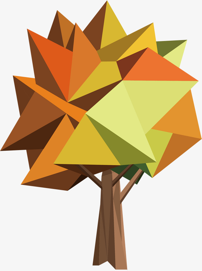 650x872 Geometry Autumn Trees, Vector Png, The Tree, Autumn Trees Png