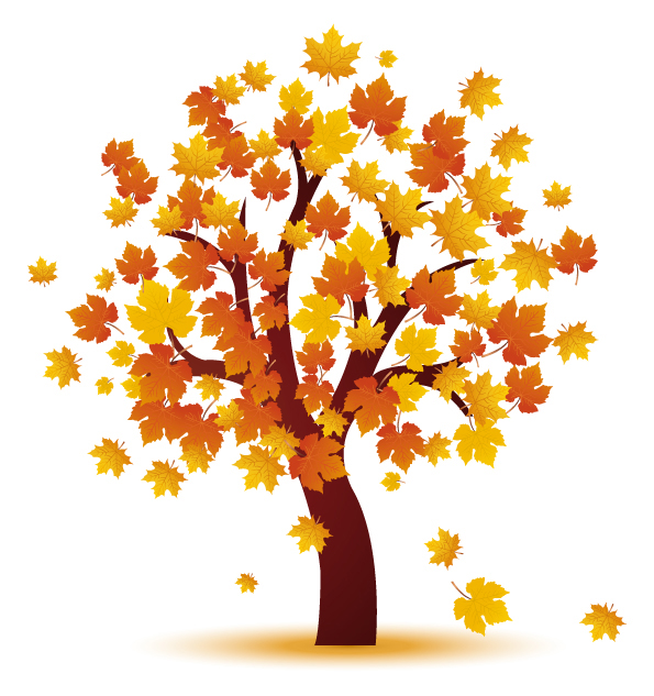 595x633 Graphics For Autumn Tree Vector Graphics