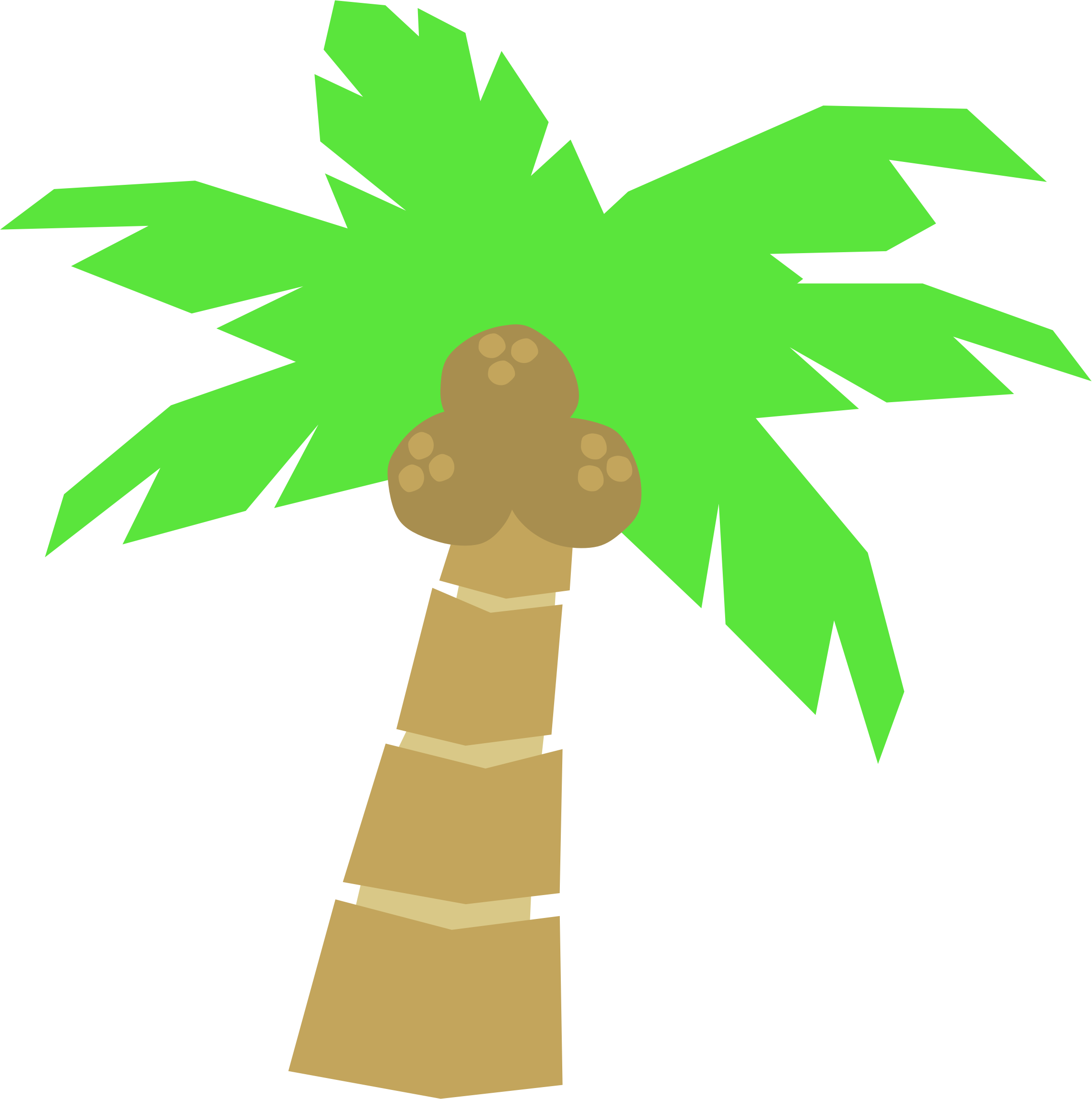 2286x2301 Palm Tree Clipart Tropical Palm Tree Vector
