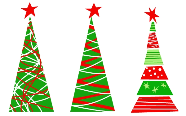 600x375 Simple Christmas Tree Vector Png
