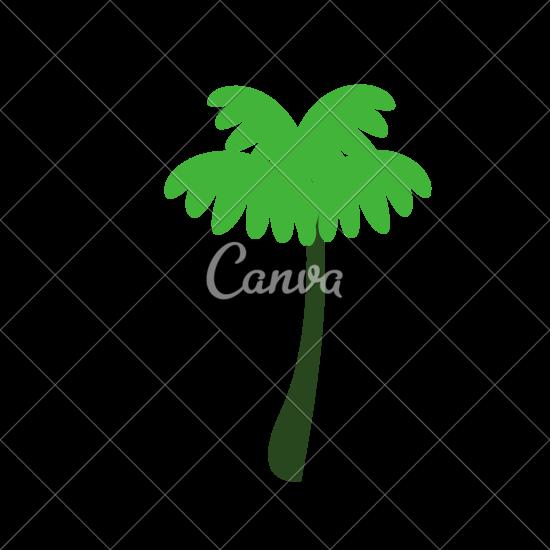 550x550 Tropical Tree Vector Design