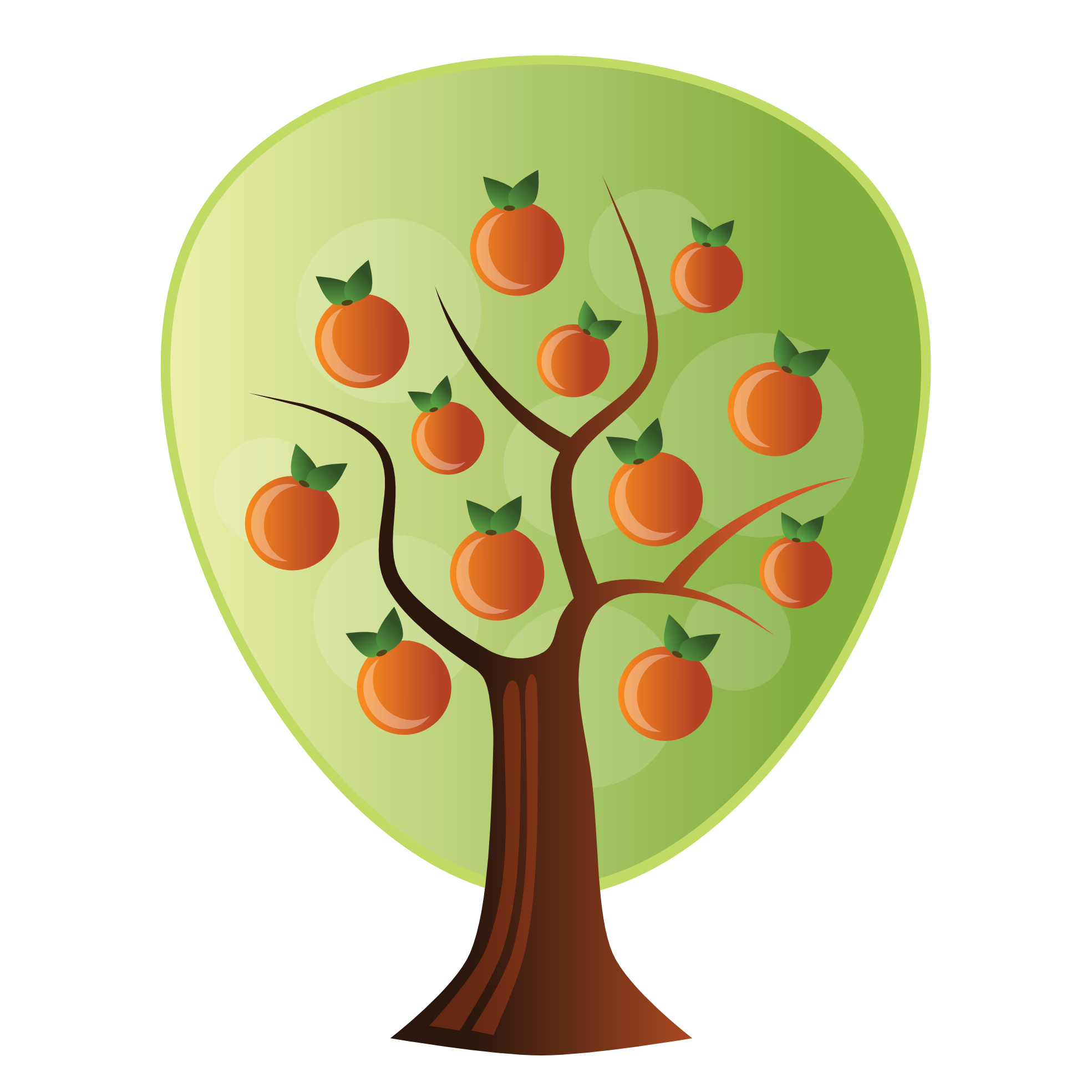 1969x1969 Clip Art Abstract Crops Orange Tree Scalable