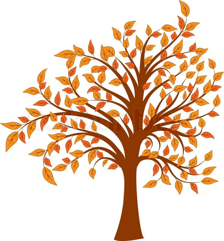 744x800 Autumn Tree, Vector Illustration Stock Vector Colourbox