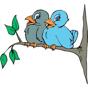 300x300 Bird On Tree Clipart