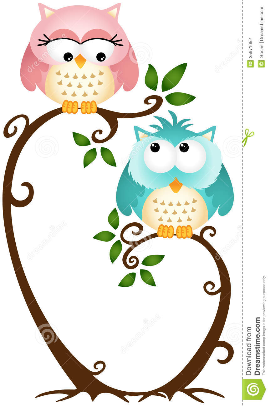 863x1300 Clip Art Family Owls In Trees Clipart