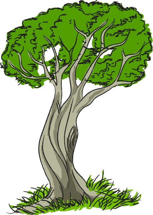 508x715 Free Clip Art Nature Trees Tree With Grass Clipart Image