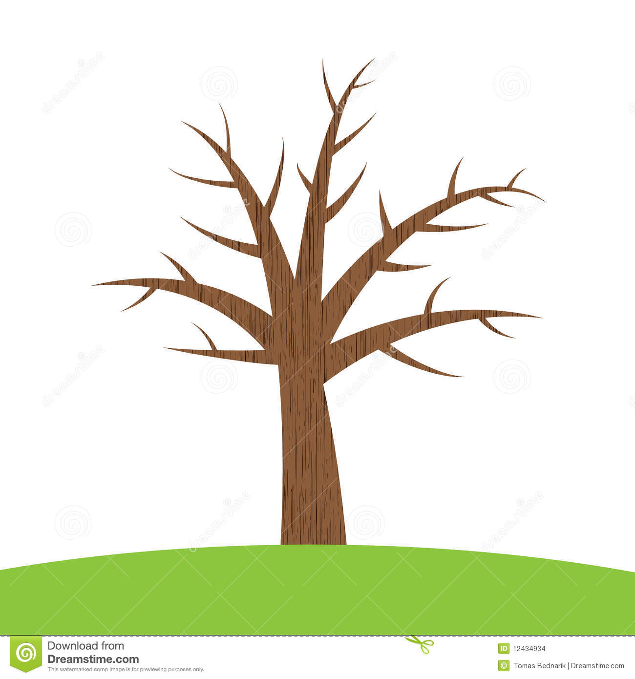 1300x1390 Tree With Trunk Clipart Branches
